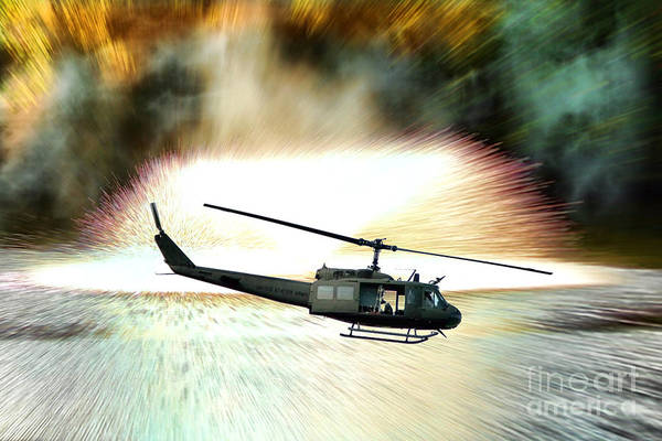 Chopper Poster featuring the photograph Combat Helicopter by Olivier Le Queinec