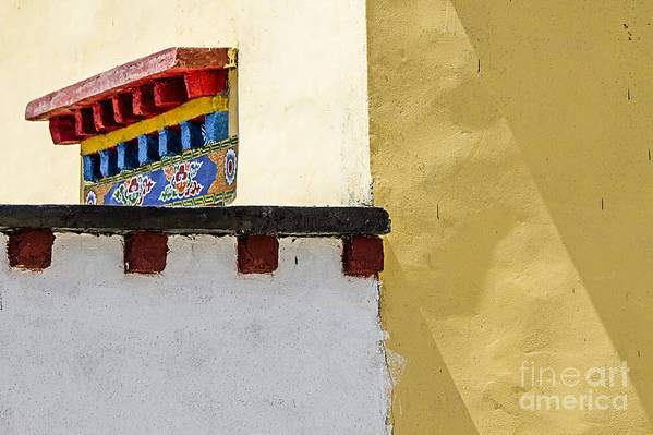 Tibetan Poster featuring the photograph Composition 2 by Hitendra SINKAR