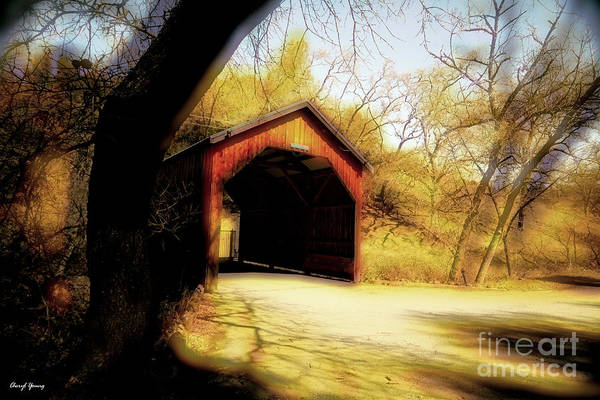 Covered Bridges Poster featuring the photograph Covered Bridge 2 by Cheryl Young