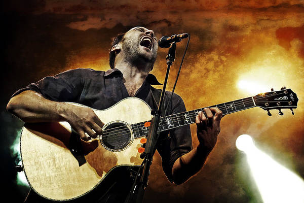 Dmb Poster featuring the photograph Dave Matthews Scream by The Vault - Jennifer Rondinelli Reilly
