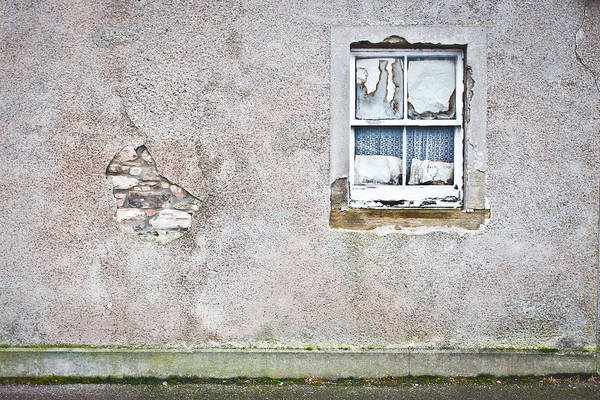Abandoned Poster featuring the photograph Derelict Window by Tom Gowanlock