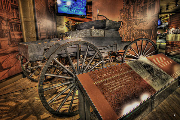 Reflecting On Life Poster featuring the photograph Detroits First Car by Nicholas Grunas