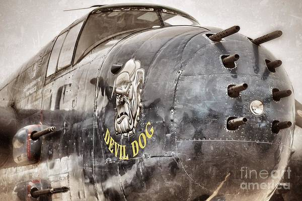 Planes Poster featuring the photograph Devil Dog by AK Photography