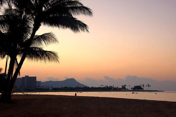 Diamond Head Sunrise Honolulu Oahu Hawaii Beach Seascape Poster featuring the photograph Diamond Head Sunrise - Honolulu Hawaii by Brian Harig