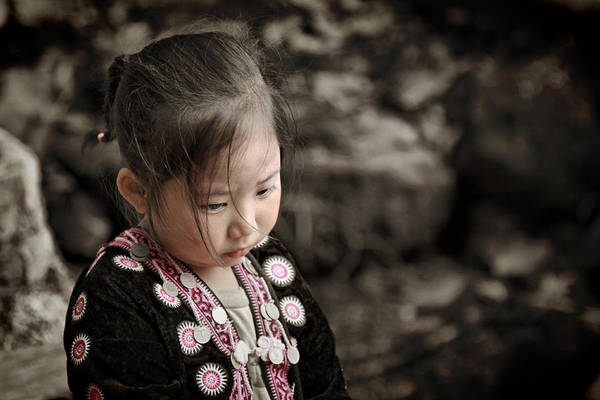 Hmong Poster featuring the photograph Don't Look Me Like Doll by Suradej Chuephanich