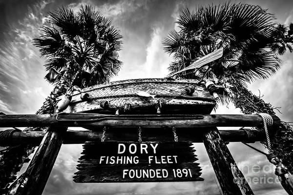 America Poster featuring the photograph Dory Fishing Fleet Sign Picture In Newport Beach by Paul Velgos