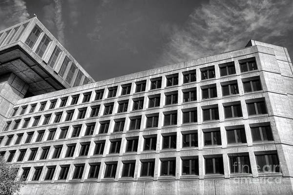 Fbi Poster featuring the photograph Fbi Building Side View by Olivier Le Queinec