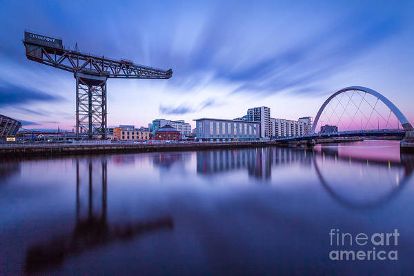 Glasgow Scene Poster featuring the photograph Finnieston Crane And Glasgow Arc by John Farnan