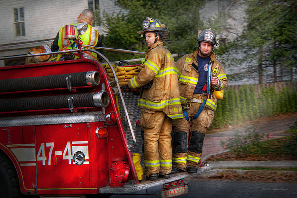 Savad Poster featuring the photograph Firefighting - Only You Can Prevent Fires by Mike Savad