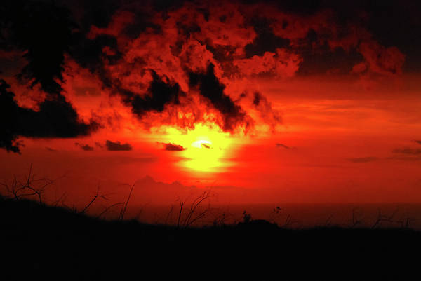 Big Island Poster featuring the photograph Flaming Sunset by Christi Kraft