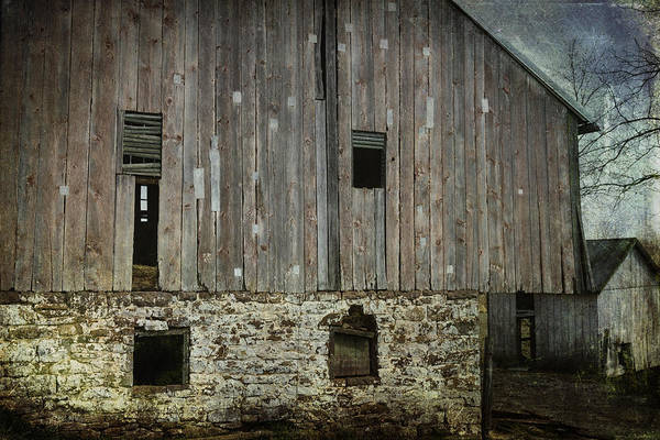 Building Poster featuring the photograph Four Broken Windows by Joan Carroll
