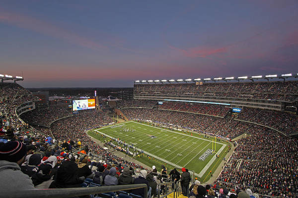 Patriots Poster featuring the photograph Gillette Stadium In Foxboro by Juergen Roth