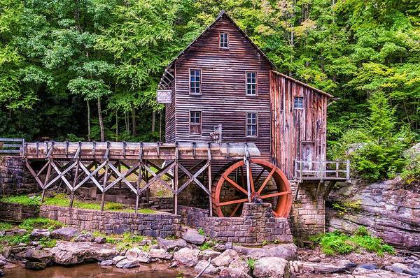 Mill Poster featuring the photograph Glade Creek Grist Mill by Steve Harrington