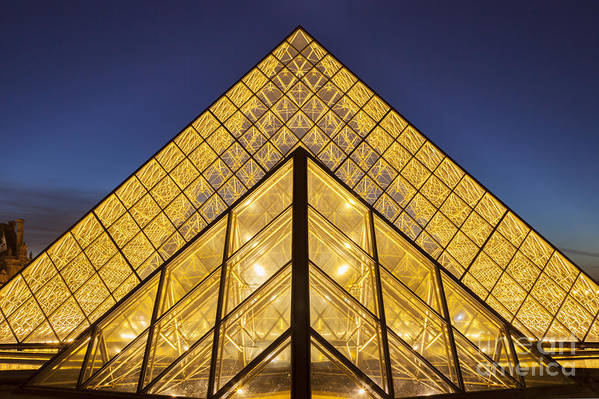 Architectural Poster featuring the photograph Glass Pyramid by Brian Jannsen