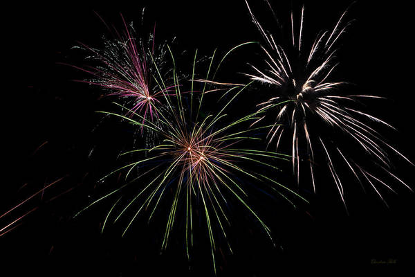Fireworks Poster featuring the photograph God Bless America Fireworks by Christina Rollo