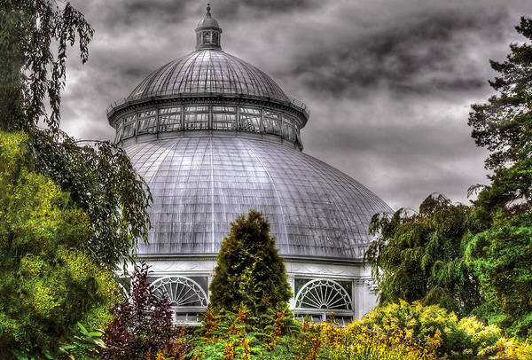 Savad Poster featuring the photograph Greenhouse - The Observatory by Mike Savad
