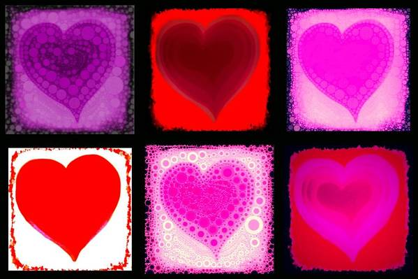 Hear Poster featuring the digital art Hearts by Cindy Edwards