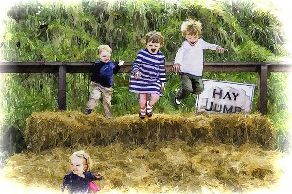 Hey Poster featuring the digital art Hey Jump by John Haldane
