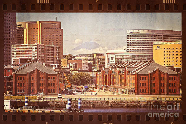 Mount Fuji Poster featuring the photograph Historical Red Brick Warehouses by Beverly Claire Kaiya