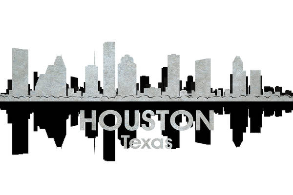 Houston Poster featuring the mixed media Houston Tx 4 by Angelina Vick