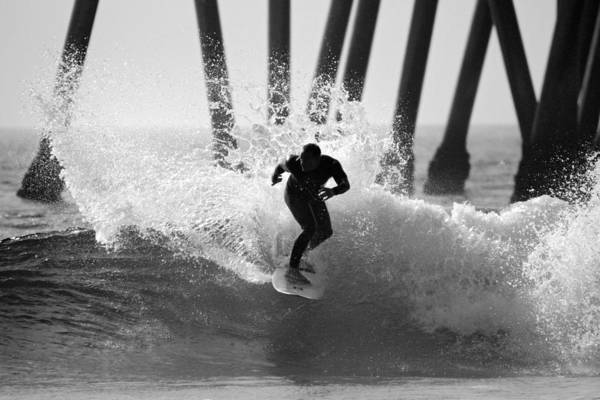 Surfer Poster featuring the photograph Huntington Beach Surfer by Pierre Leclerc Photography