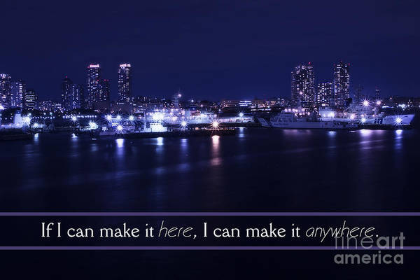 If I Can Make It Here Poster featuring the photograph If I Can Make It Here by Beverly Claire Kaiya