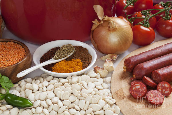 Ingredients Poster featuring the photograph Ingredients For Spanish Chorizo Soup by Colin and Linda McKie