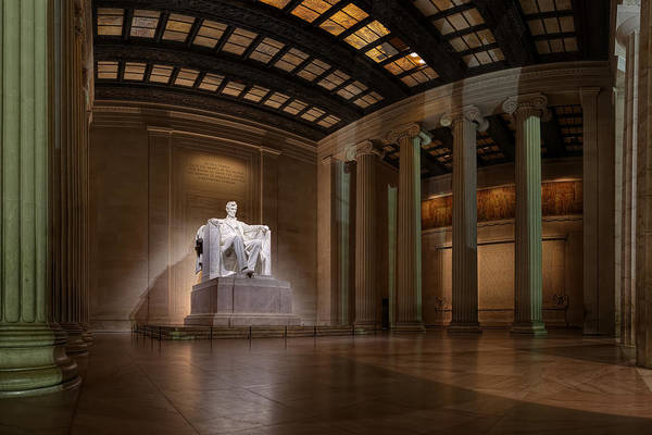 Metro Poster featuring the photograph Inside The Lincoln Memorial by Metro DC Photography