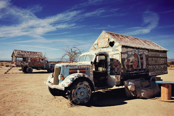 Salvation Mountain Poster featuring the photograph It's All About Love by Laurie Search