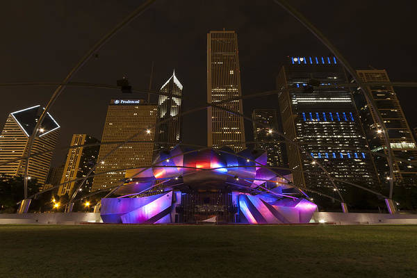 3scape Photos Poster featuring the photograph Jay Pritzker Pavilion Chicago by Adam Romanowicz