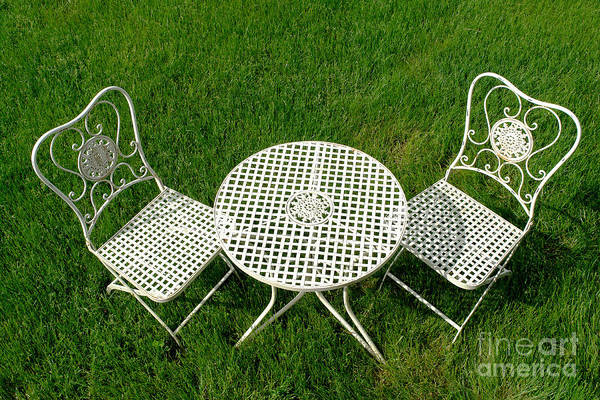 Cast Poster featuring the photograph Lawn Furniture by Olivier Le Queinec