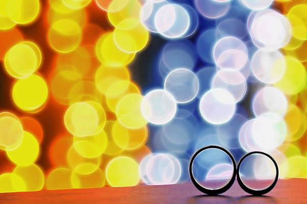 Bokeh Poster featuring the photograph Let's Celebrate by Suradej Chuephanich