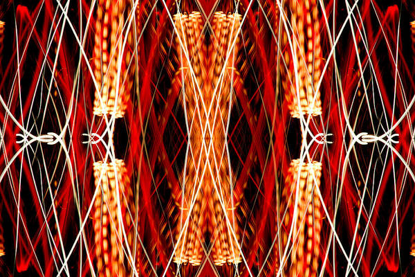 Abstract Poster featuring the photograph Light Fantastic 23 by Natalie Kinnear