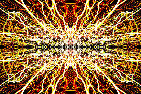 Abstract Poster featuring the photograph Light Fantastic 28 by Natalie Kinnear
