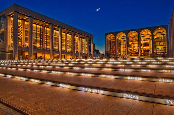 Lincoln Poster featuring the photograph Lincoln Center by Susan Candelario