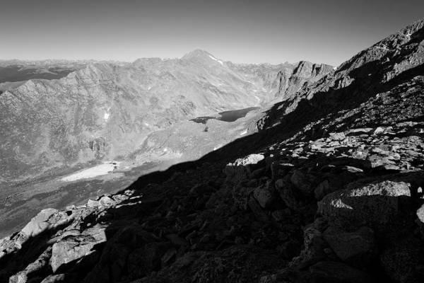 Mt. Evans Landscape Photograph Poster featuring the photograph Long Shadows by Jim Garrison