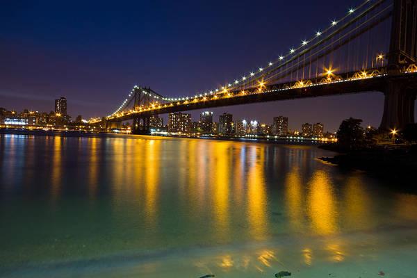 America Poster featuring the glass art Manhattan Bridge by Mircea Costina Photography