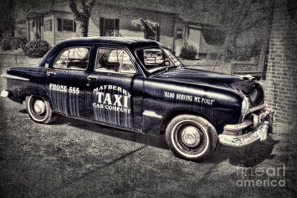 Andy Griffith Poster featuring the photograph Mayberry Taxi by David Arment