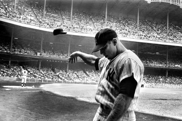 Mickey Poster featuring the photograph Mickey Mantle by Gianfranco Weiss