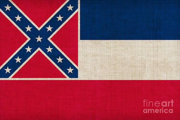Mississippi Poster featuring the painting Mississippi State Flag by Pixel Chimp
