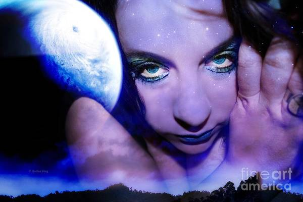 This Image Is  Heather King. You May Not Use This Or Any Of My Images (in Whole Or In Part). All Rights Reserved. Poster featuring the photograph Moon Intoxication by Heather King