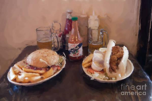 New Orleans Poster featuring the photograph Muffaletta And Po-boy by Kay Pickens