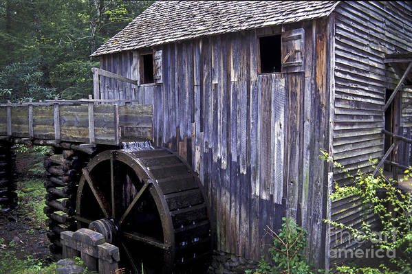 Grist Mill Poster featuring the photograph Old Cades Cove Mill by Paul W Faust - Impressions of Light