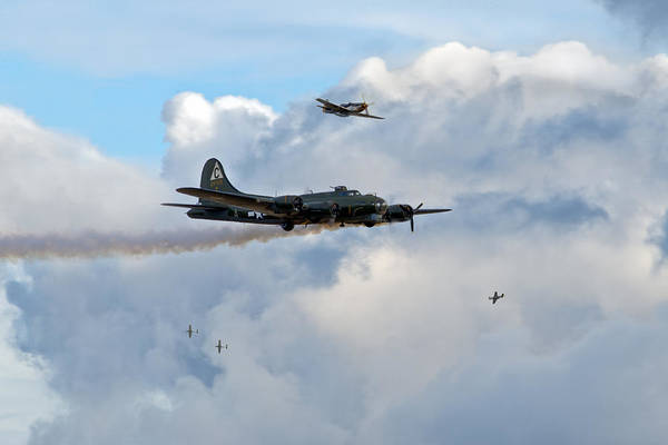 B-17 Poster featuring the photograph Old Hickory's Last Trip by Gary Eason