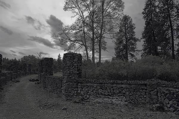 Spokane Poster featuring the photograph Old Liberty Park Ruins In Spokane Washington by Daniel Hagerman