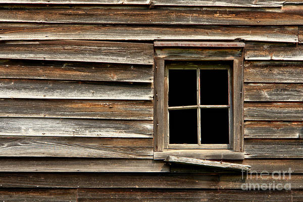 Window Poster featuring the photograph Old Window And Clapboard by Olivier Le Queinec