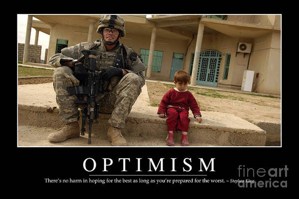 Horizontal Poster featuring the photograph Optimism Inspirational Quote by Stocktrek Images