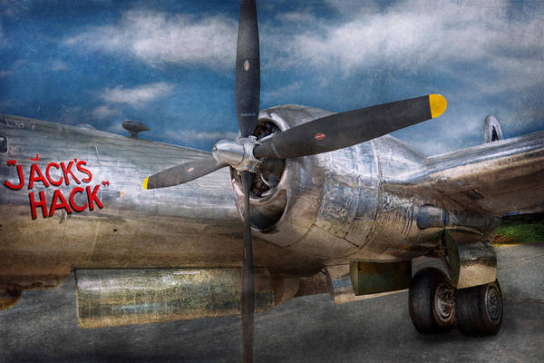 Plane Poster featuring the photograph Pilot - Plane - The B-29 Superfortress by Mike Savad