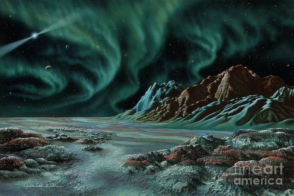 Lynette Cook Poster featuring the painting Pulsar Planets I by Lynette Cook