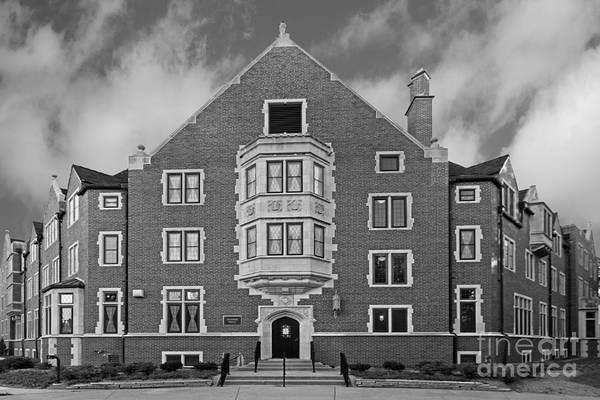 Big 10 Poster featuring the photograph Purdue University Duhme Residence Hall by University Icons
